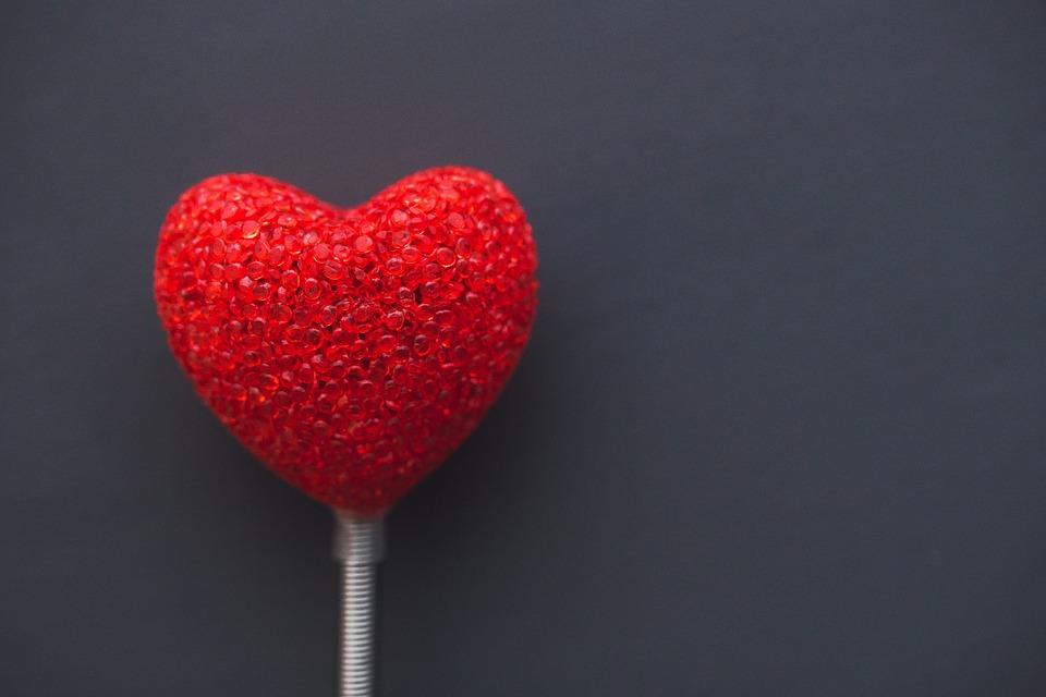 Herz am Valentinstag